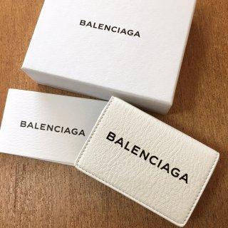 バレンシアガ 財布 BALENCIAGA BIG ロゴ 三つ折り ミニ