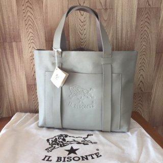 イルビゾンテ トートバッグ IL BISONTE A2591 グレー トープ
