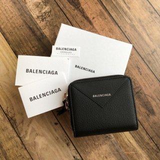 BALENCIAGA 2つ折り財布 小銭入れ付き ブラック