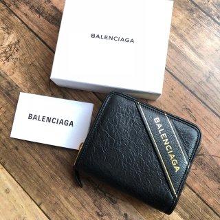 バレンシアガ デカロゴ コンパクト 折り財布