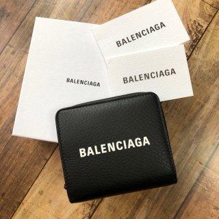 バレンシアガ エブリデイ ジップ 折り財布 ブラック