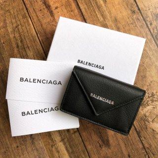 バレンシアガコンパクト ペーパー Mini3つ折り財布