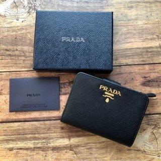 新品 PRADA プラダ サフィアーノ 1ML018 二つ折り財布