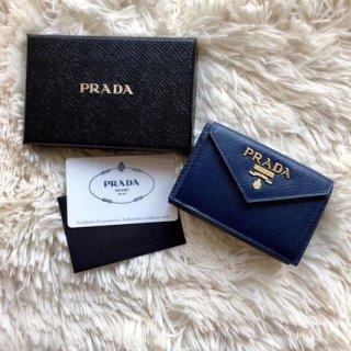 最新作 PRADA サフィアーノ 三つ折り財布