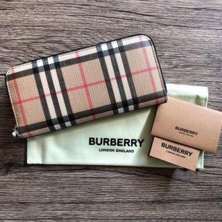 新品 BURBERRY ellerby ラウンド長財布