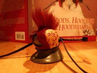 モヒカンフード(印伝) Mohawk hood -Inden-