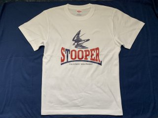 STOOPER falconry T-shirt (Men's  M size) 白