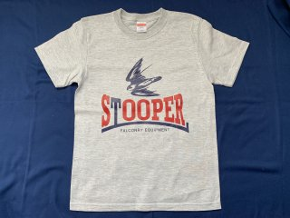STOOPER falconry T-shirt (Kids 150 size) グレー