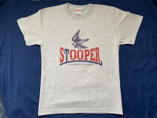 STOOPER falconry T-shirt (Men's  XL size) グレー