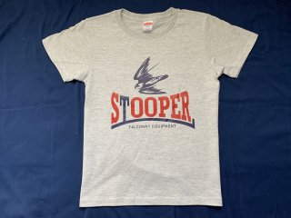 STOOPER falconry T-shirt (Women's M size) グレー