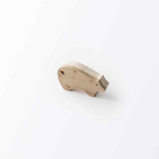 アニマルブラシ 豚毛の爪ブラシ
