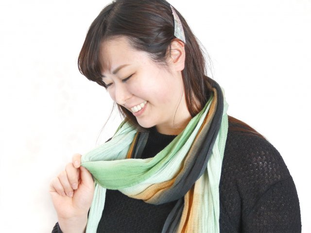 歌舞伎タオル(引き染めマフラータイプ)5色