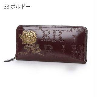 【10%OFF】フィセルローズ ラウンドジップ長財布