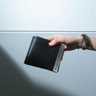 ATメタルプレート 二つ折り財布