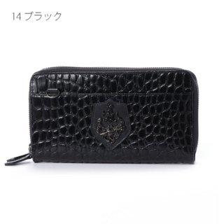 【10%OFF】ダブルジップモバイルウォレット クロコディル