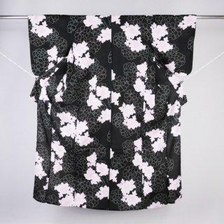 浴衣 パステルピンクの花