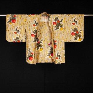 アンティーク銘仙羽織 デフォルメの花