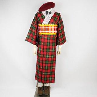 ウール着物セット クリスマスコーデ