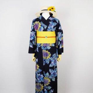 浴衣セット 向日葵(帯留め付き)