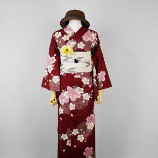 浴衣セット 桜(帯留め付き)