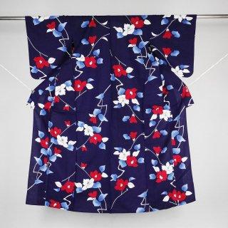 レトロ浴衣 椿