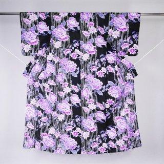 浴衣 紫の牡丹