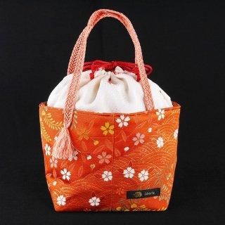 巾着バッグ 青海波や桜 Akarieオリジナル