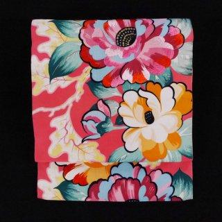 アンティーク名古屋帯 ゴージャスな椿の花