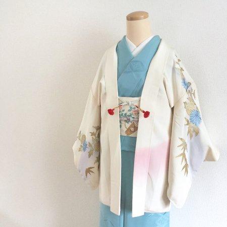 ぼかし染めと刺繍菊の羽織