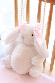 ロリータ ピンクリボン ウサギちゃんバッグ ポシェット ふわふわ ゆめかわ ウサギ 白ロリ 甘ロリ ロリータファッション