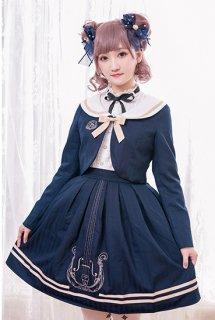 ロリータ Chess Story 制服風ジャケット+スカート 2ピース ストライプ リボン