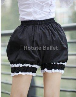 【即納有り】 ロリータファッション Rotate Ballet ブランド ロリィタ フリルかぼちゃパンツ 提灯パンツ インナー ボトム 甘ロリ ゴスロリ