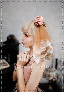【受注生産 納期1ヶ月】ロリータ Rotate Ballet timestory ローズベールヘッドドレス リボン 甘ロリ 姫ロリ