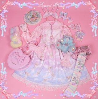 【受注生産】ロリータファッション ロリータ Diamond Honey ドリームエンジェルジャンパースカート ジャンスカのみ 甘ロリ ゆめかわ ピンク 天使 loli0202