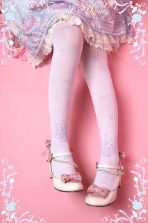 ロリータ Diamond Honey 人魚姫のコスメニーハイソックス ソックスのみ 甘ロリ 姫ロリ