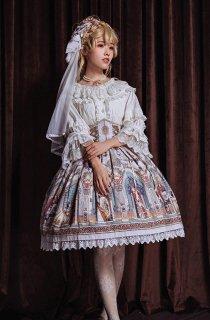 ロリータ Krad Lanrete 欧風スカート スカートのみ 姫ロリ ゴスロリ お嬢様 フリル ピンク ホワイト ブルー cnalb20486