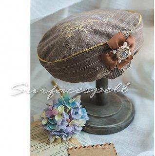 ロリータ Surfacespell 欧風学院風帽子 帽子のみ お嬢様 クラシック クラロリ