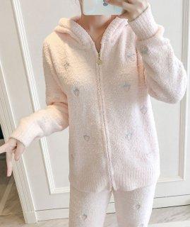 ロリータ ナイトウェア イチゴ柄あったかパジャマ 上下セット パジャマのみ ストロベリー 部屋着 甘ロリ