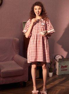 ロリータ ナイトウェア 大きめお袖キティちゃんネグリジェ ネグリジェのみ 部屋着 ミニ リボン 甘ロリ コラボ