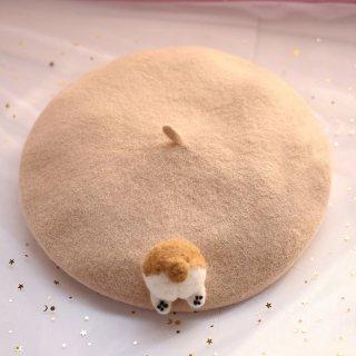 ロリータ ハムスターのおしりベレー帽 ベレー帽のみ 甘ロリ リボン 甘ロリ かわいい【ポスト投函対応】