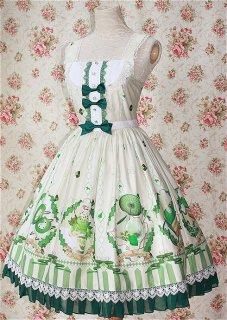 ロリータ Milu Forest Matcha Dessertジャンパースカート ジャンスカのみ クラロリ リボン 甘ロリ 姫