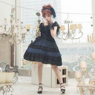 ロリータファッション ロリータ Rabbit&Sheep 海のプリンセスBlackジャンパースカート ジャンスカのみ jsk 甘ロリ 姫ロリ