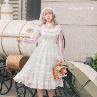ロリータファッション ロリータ Rabbit&Sheep ドリームプリンセス長袖ワンピース ワンピースのみ ゆめかわ 甘ロリ 姫ロリ