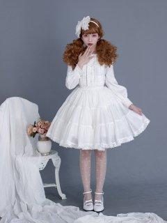 ロリータファッション ロリータ モノトーンフリルスカート スカートのみ 白ロリ 黒ロリ 甘ロリ ゴスロリ