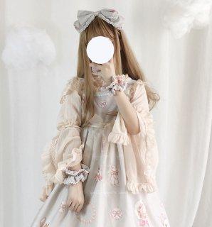 ロリータ ボリューミー姫袖ブラウス ブラウスのみ 長袖 透け感 甘ロリ ゴスロリ
