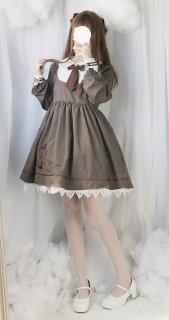 ロリータ お嬢様学校風制服ワンピース ワンピのみ 乃木坂 制服ロリータ 甘ロリ