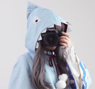 ロリータ 海のサメさんポンチョコート コートのみ ワンピース別売り 海 マリン ジョーズ