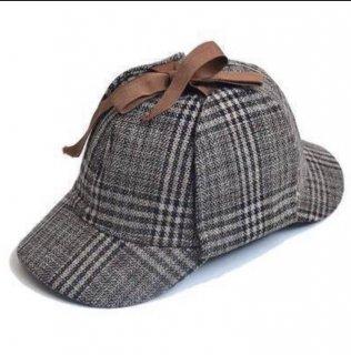 ロリータ 小熊探偵学院探偵ハット ハットのみ チェック柄 名探偵 探偵帽 帽子