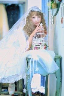 スパンコールブライダルベール 結婚式 花嫁 小花 チュール レース 短め ふわふわ【ポスト投函対応】