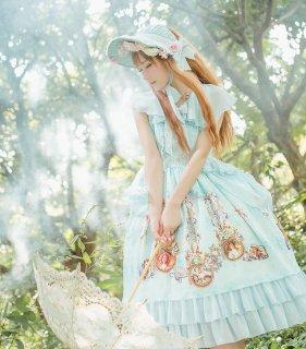 ロリータファッション ロリータ Quaintlass RoséeMatinale ワンピース ワンピのみ 甘ロリ 姫ロリ 半袖 ジャンスカ リボン